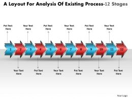 A Layout For Analysis Of Existing Process 12 Stages Free Flowchart Program Powerpoint Templates