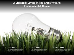 A Lightbulb Laying In The Grass With An Environmental Theme