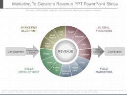 A Marketing To Generate Revenue Ppt Powerpoint Slides
