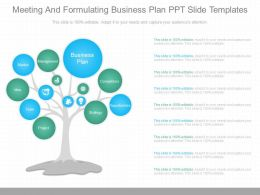 A Meeting And Formulating Business Plan Ppt Slide Templates