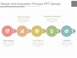 A Merger And Acquisition Process Ppt Sample