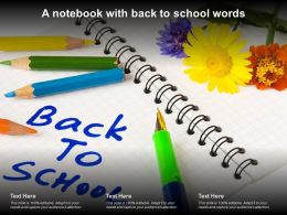 A Notebook With Back To School Words
