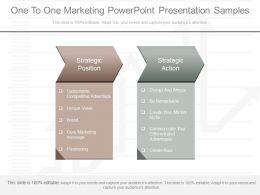A One To One Marketing Powerpoint Presentation Samples