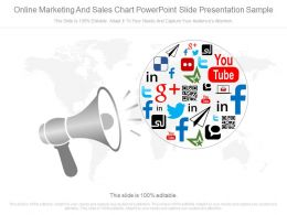 A Online Marketing And Sales Chart Powerpoint Slide Presentation Sample