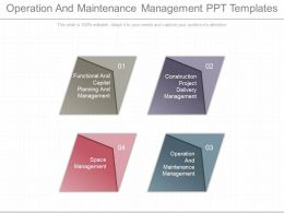 A Operation And Maintenance Management Ppt Templates
