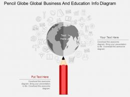 a Pencil Globe Global Business And Education Info Diagram Flat Powerpoint Design