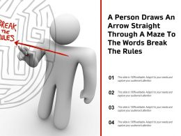 A Person Draws An Arrow Straight Through A Maze To The Words Break The Rules