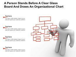 A Person Stands Before A Clear Glass Board And Draws An Organizational Chart
