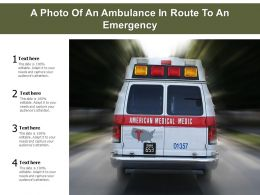 A Photo Of An Ambulance In Route To An Emergency