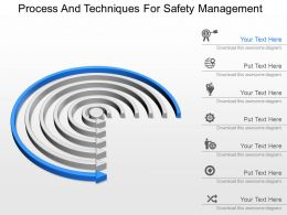 a Process And Techniques For Safety Management Powerpoint Template