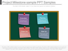 A Project Milestone Sample Ppt Samples