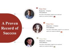 A Proven Record Of Success Powerpoint Templates