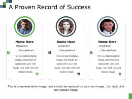 A Proven Record Of Success Ppt Diagram Lists