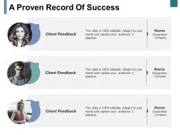 A Proven Record Of Success Ppt Summary Skills
