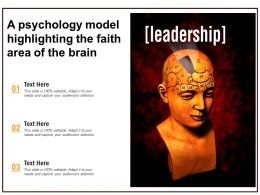 A Psychology Model Highlighting The Faith Area Of The Brain