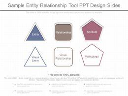A Sample Entity Relationship Tool Ppt Design Slides