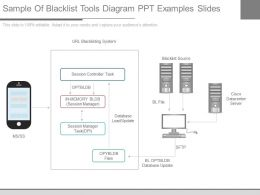 A Sample Of Blacklist Tools Diagram Ppt Examples Slides