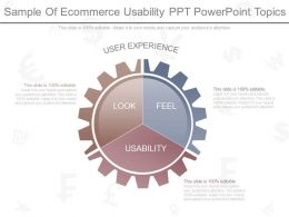 A Sample Of Ecommerce Usability Ppt Powerpoint Topics