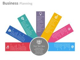 a Seven Staged Business Planning Diagram Flat Powerpoint Design