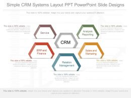 A Simple Crm Systems Layout Ppt Powerpoint Slide Designs