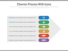 a Six Staged Chevron Process With Icons Flat Powerpoint Design