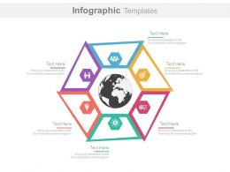 a Six Staged Global Business Strategy Chart Flat Powerpoint Design