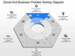 a Social And Business Problem Solving Diagram Powerpoint Template