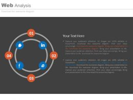 a Social Media Icons In Circle Of Web Analysis Flat Powerpoint Design