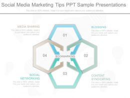 A Social Media Marketing Tips Ppt Sample Presentations