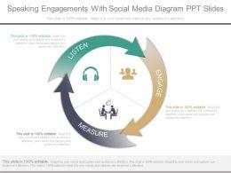 a_speaking_engagements_with_social_media_diagram_ppt_slides_Slide01