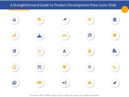 A Straightforward Guide To Product Development Plans Icons Slide Ppt Samples