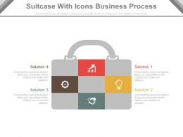 a Suitcase With Icons For Business Process Flat Powerpoint Design