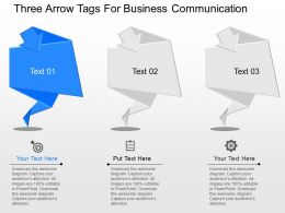 a Three Arrow Tags For Business Communication Powerpoint Template