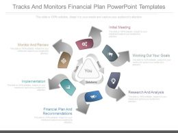 A Tracks And Monitors Financial Plan Powerpoint Templates