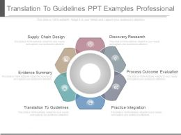 A Translation To Guidelines Ppt Examples Professional