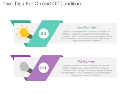 a Two Tags For On And Off Condition Flat Powerpoint Design