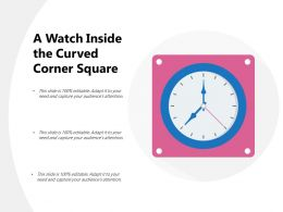A Watch Inside The Curved Corner Square