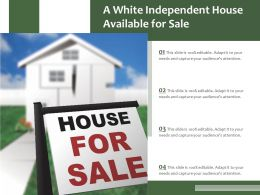 A White Independent House Available For Sale