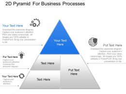 Aa 2d Pyramid For Business Processes Powerpoint Template Slide
