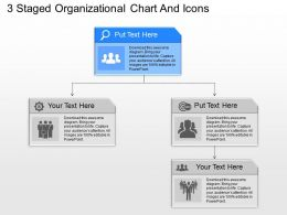 aa 3 Staged Organizational Chart And Icons Powerpoint Template