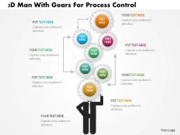 Aa 3d Man With Gears For Process Control Powerpoint Templets