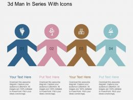 aa 3d Men In Series With Icons Flat Powerpoint Design
