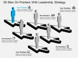 Aa 3d Men On Pointers With Leadership Strategy Powerpoint Template