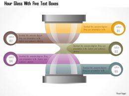 Aa Hour Glass With Five Text Boxes Powerpoint Template
