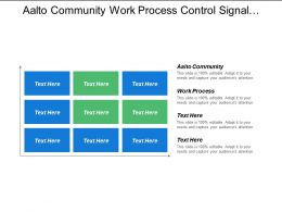 Aalto Community Work Process Control Signal Control Model