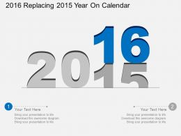 Ab 2016 Replacing 2015 Year On Calendar Flat Powerpoint Design