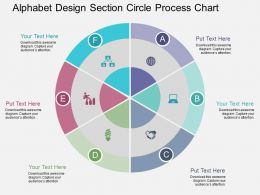ab Alphabet Design Section Circle Process Chart Flat Powerpoint Design