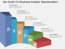 ab Bar Graph For Business Analysis Representation Flat Powerpoint Design