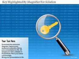Ab Key Highlighted By Magnifier For Solution Powerpoint Template