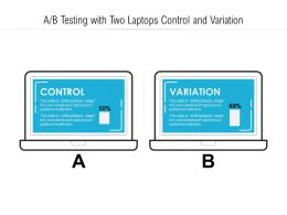 AB Testing With Two Laptops Control And Variation